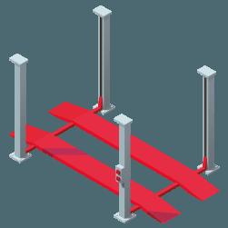 elevador-cuatro-columnas